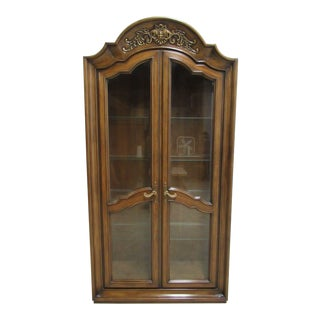 Vintage Baker Furniture French Regency Dome Top Curio Hutch For Sale
