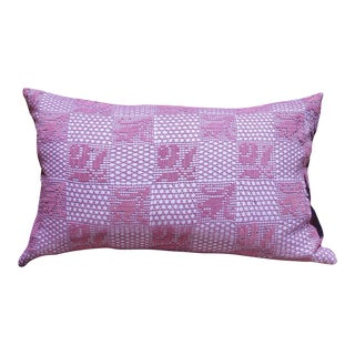 Vintage Crochet & Dyed Pillow