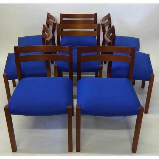 Eight 1974 Jørgen Henrik Moller Modern Teak Dining Chairs - Image 11 of 11