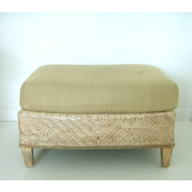 Oversized Wicker Armchairs & Ottoman - A Pair - Image 7 of 8
