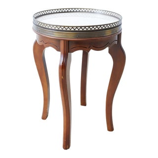 French Bouillotte Marble Side Table For Sale