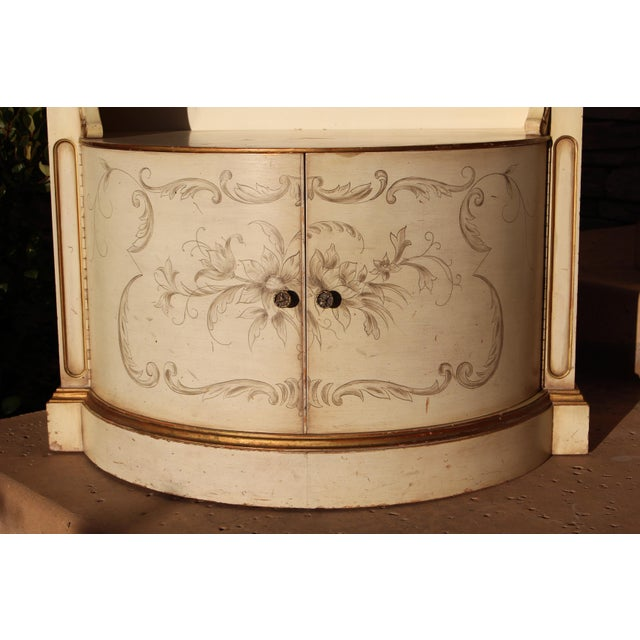 Gold Karges Painted Demilune Nightstand - Pair For Sale - Image 8 of 11