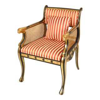 1990s Vintage Rose Tarlow Neo Classical Style Bergere For Sale
