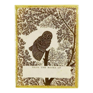 Vintage Owl Bookplates in Box