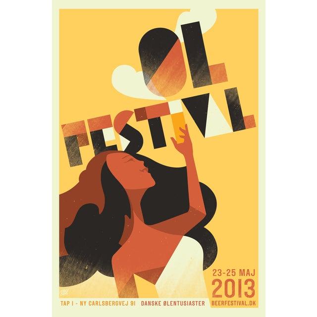 Mads Berg 'Festival' Danish Poster - Image 2 of 2