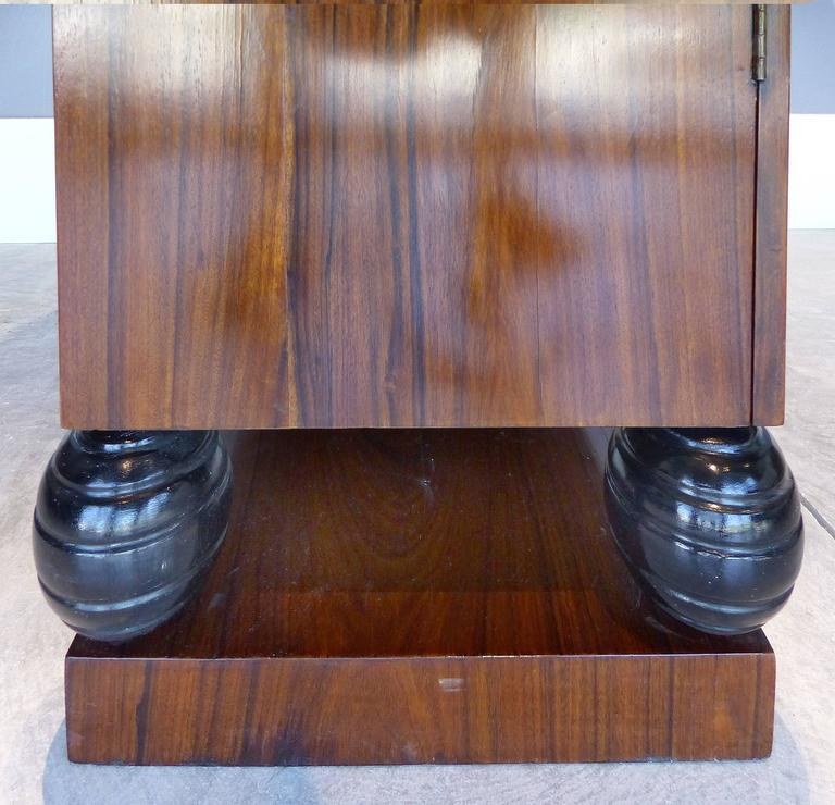 Rosewood Art Deco Cabinets with Horn Door Knobs and Ebonized Turned Supports - Image 4 of & Distinguished Rosewood Art Deco Cabinets with Horn Door Knobs and ...