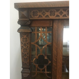 20th Century Traditional Quater-Sawn Oak Display Cabinet Preview