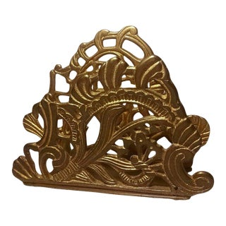 1980s Vintage Teleflora Brass Letter Holder For Sale