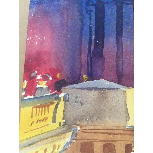 David L. Swasey Original Palais Bourbon, Paris on Reverse Side Watercolor Seascape Painting For Sale - Image 10 of 13