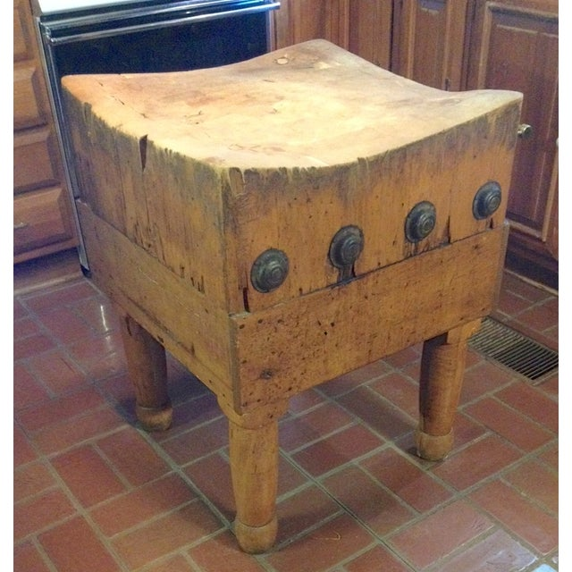 Vintage 1930's Maple Chopping Block Table - Image 3 of 7