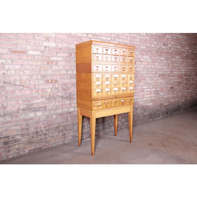 Mid-Century Modern 35-Drawer Library Card Catalog by Remington Rand For Sale - Image 13 of 13