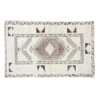 """Distressed Oushak Rug - 3'2"""" x 5' For Sale"""