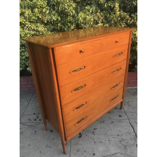 Mid-Century Tall Boy Dresser by Morganton For Sale - Image 10 of 13