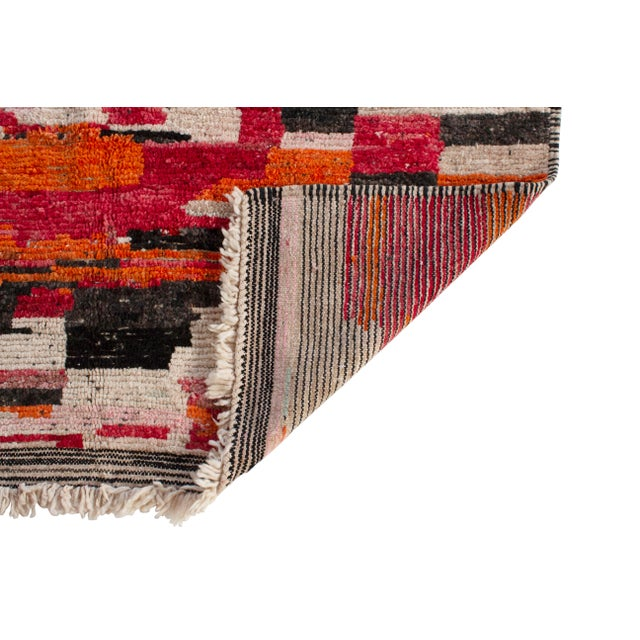 Moroccan Berber Wool Rug-5'4'x8'3' For Sale - Image 4 of 5