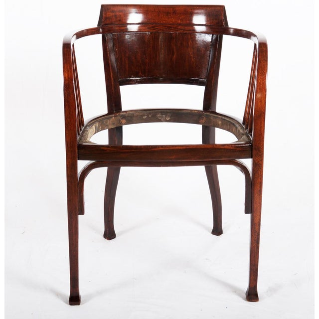 Beech armchair by Otto Wagner for Thonet, 1905 For Sale - Image 6 of 7