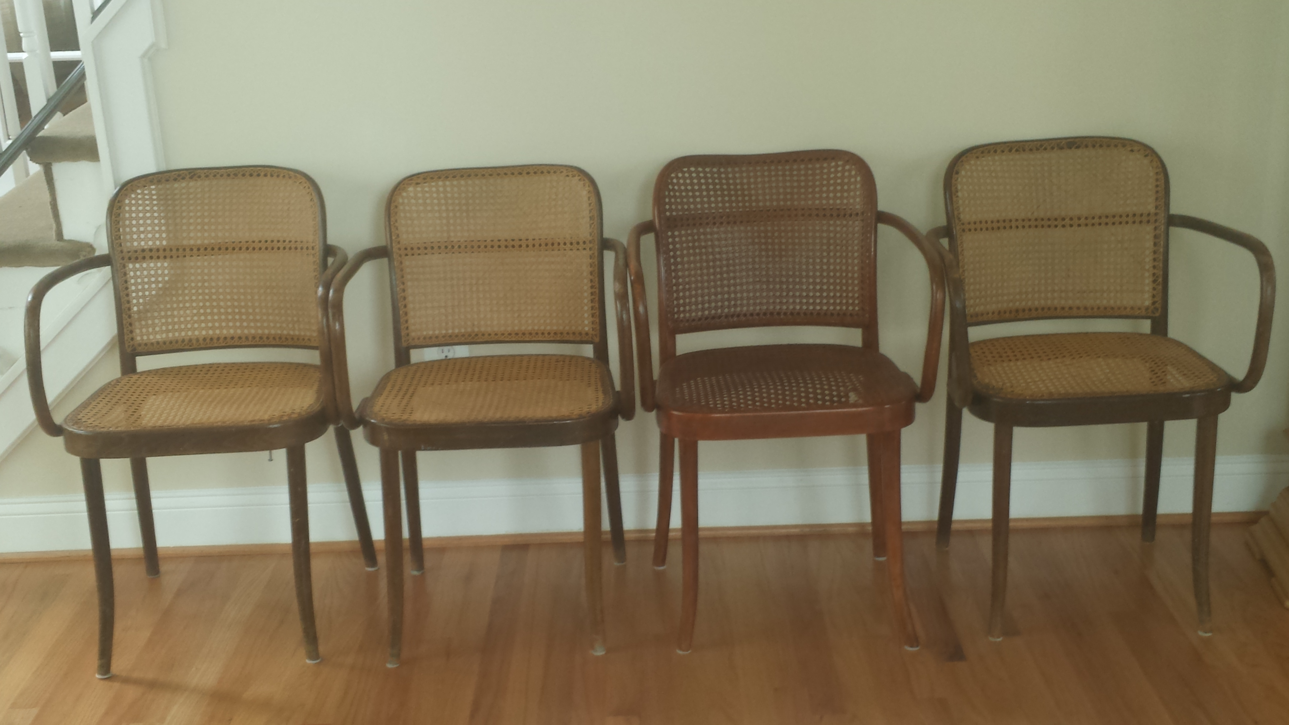 Ordinaire Modern Vintage Stendig Thonet Bentwood Cane Chairs   Set Of 4 For Sale    Image 3