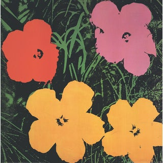 Andy Warhol, Flowers (Lg), Offset Lithograph, 1993 For Sale