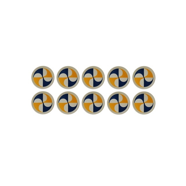 Rare Set of 10 Gio Ponti for Franco Pozzi Plates For Sale