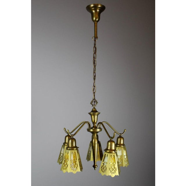 Antique Spindle Fixture (5-Light) - Image 2 of 8