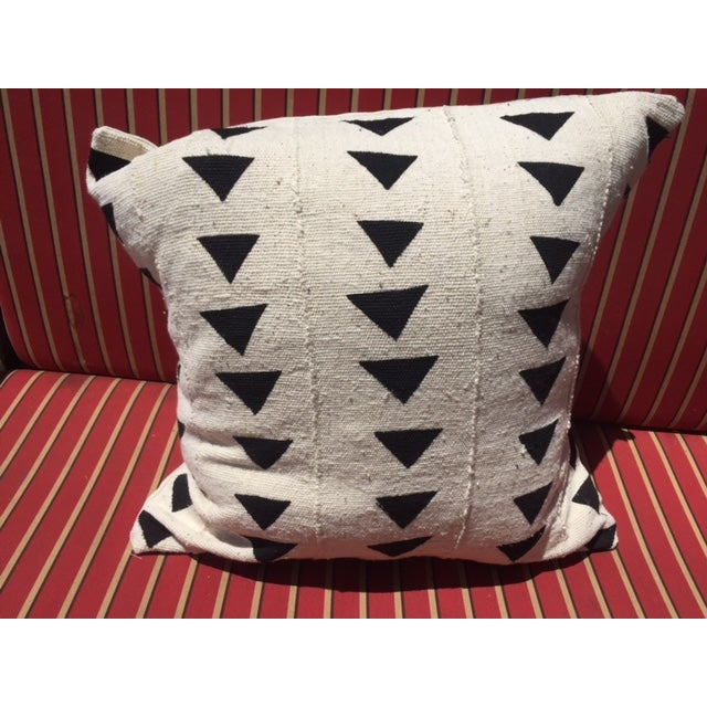 Black & White African Mudcloth Pillow - Image 2 of 3