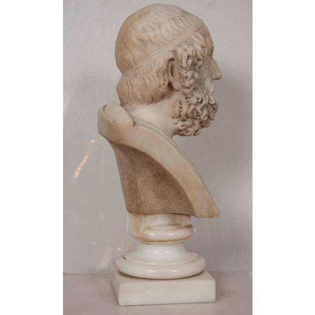 Marble Bust of Homer For Sale - Image 4 of 11