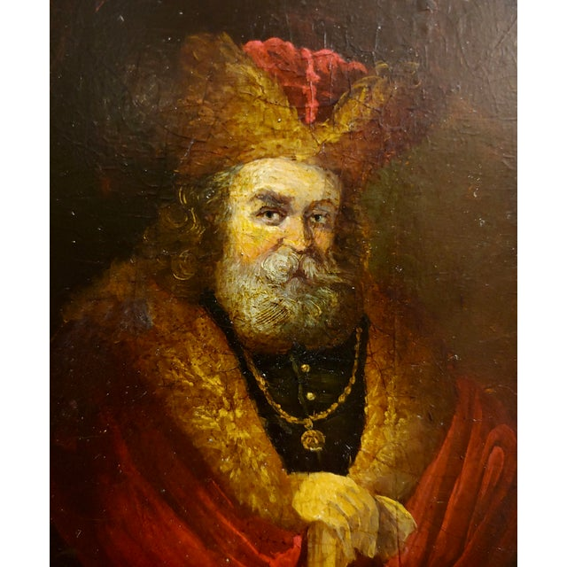Late 18th Century Portrait of a Monarch -18th Century Flemish Oil Painting For Sale - Image 5 of 8