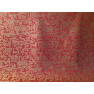 "Clarence House ""Angkor Wat"" Cinnabar Fabric - 2 & 2/3 Yards For Sale"