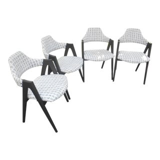 Vintage Kai Kristiansen Mid-Century Danish Modern Compass Dining Chairs - Set of 4 For Sale