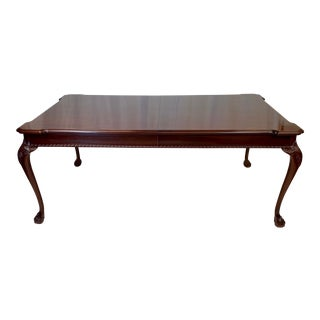 Vintage Mahogany Lexington Furniture Ball & Claw Extension Dining Table For Sale