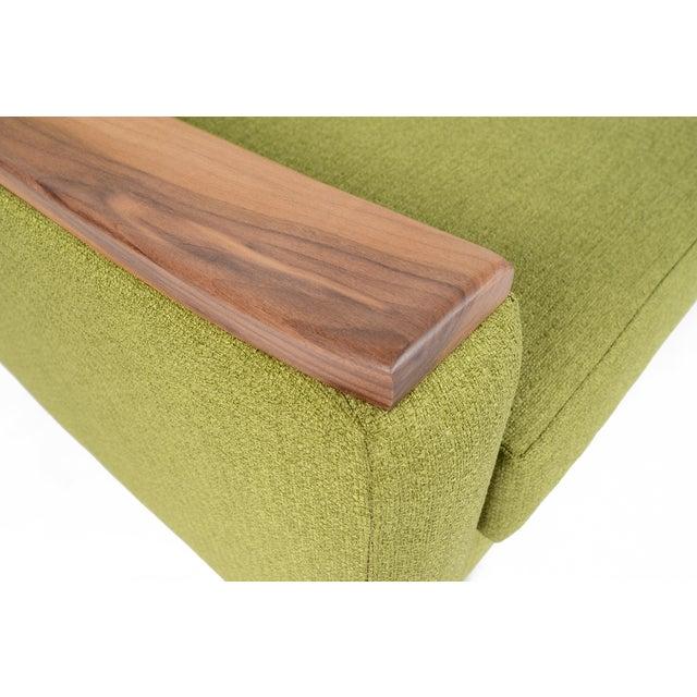 """Mid-Century Style """"Piedmont"""" Sofa in Avocado - Image 8 of 10"""