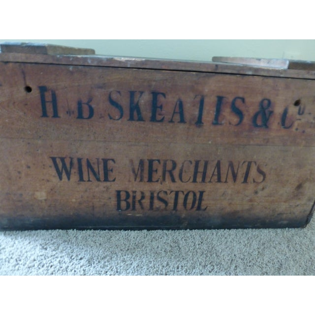English Traditional Vintage English Wooden Wine Crate For Sale - Image 3 of 9