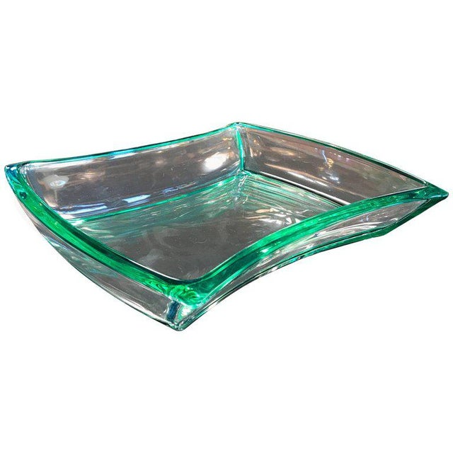 Green Fontana Arte Aquamarine Glass Bowl For Sale - Image 8 of 8