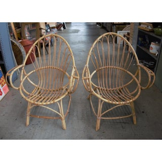 Franco Albini Attributed Bamboo Chairs - a Pair Preview