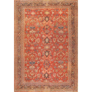 "Antique Persian Sultanabad Rug- 13'4"" x 19'4"" For Sale"