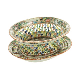 18th Century Antique Chinese Chin Fruit Basket For Sale