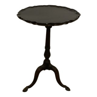 Antique Mahogany Pie Crust Side Table For Sale