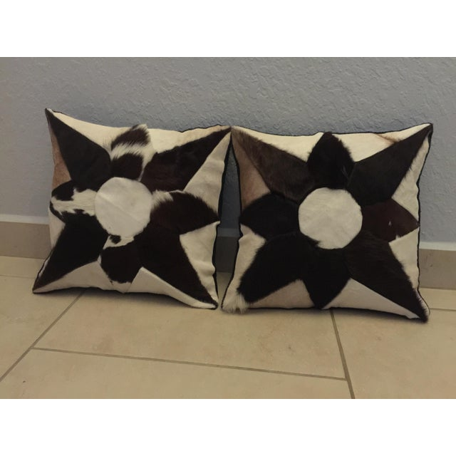Mid-Century Cowhide Pillows - Image 2 of 5