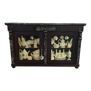 Antique 1800s Hand Painted Revival Cabinet For Sale