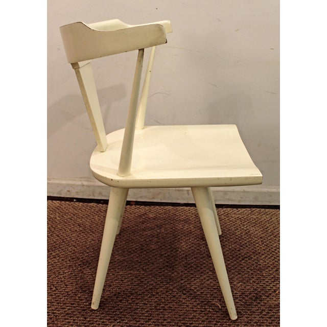 Mid-Century Danish Modern White Paul McCobb Planner Group Desk Side Chair For Sale In Philadelphia - Image 6 of 11