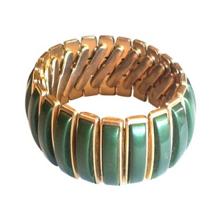 Green Thermoset Plastic Stretch Bracelet