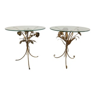 Vintage Italian Tole Tables - a Pair For Sale