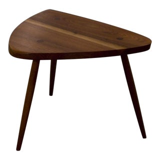 George Nakashima Walnut Tripod Lamp Table