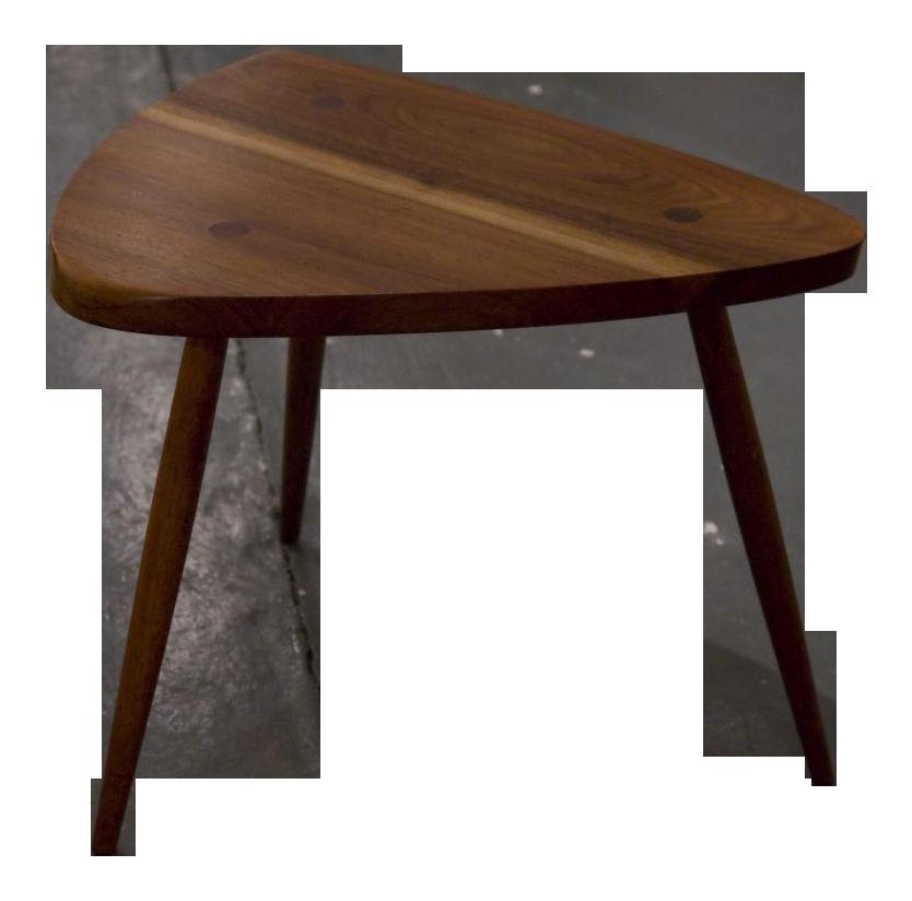 George Nakashima Walnut Tripod Lamp Table For Sale