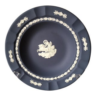 Wedgewood Dark Blue Decorative Plate For Sale