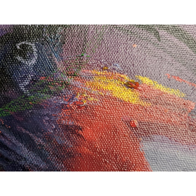 Contemporary Burst of Spring Mixed Media Painting For Sale - Image 3 of 3