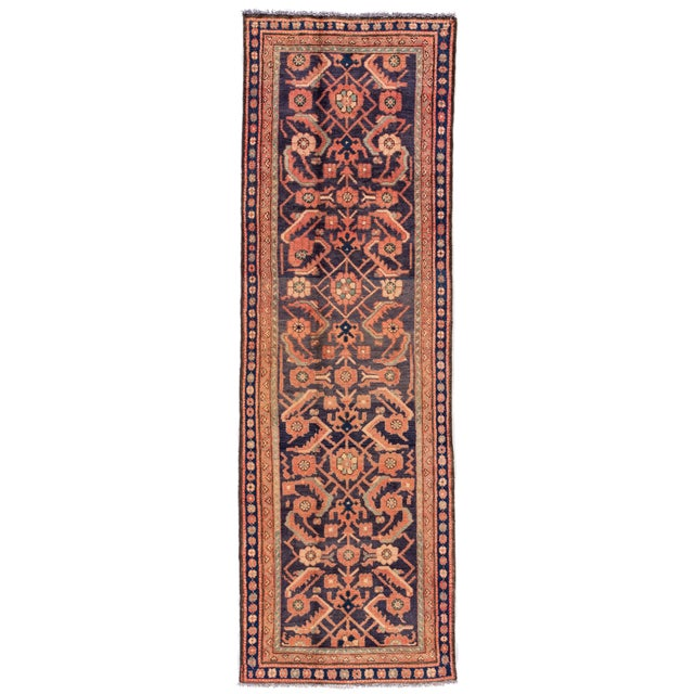 "Textile Apadana - Vintage Persian Malayer Runner Rug, 3'0"" X 9'6"" For Sale - Image 7 of 7"