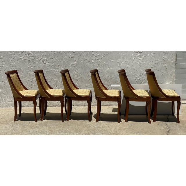 Goldenrod French Charles X Revival Dining Chairs - Set of 6 For Sale - Image 8 of 13