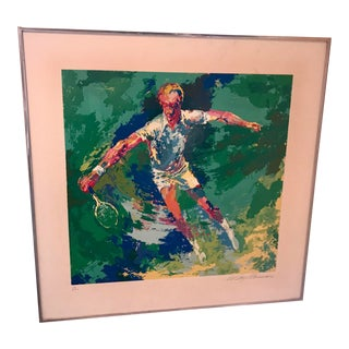 Signed Leroy Neiman Serigraph Tennis Player For Sale