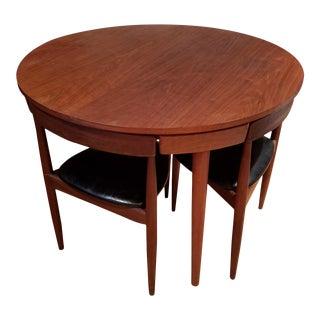 Frem Rojle Hans Olsen Teak Dining Set Table and 4 Chairs