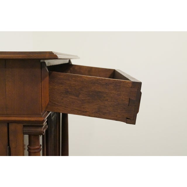 Wood 20th Century Traditional Burl Walnut and Mahogany Court Cupboard For Sale - Image 7 of 12